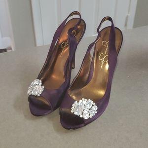 Purple Jessica Simpson Slingback Heels 💜